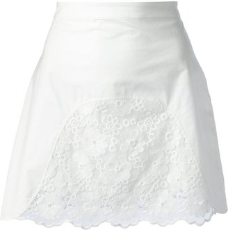 See by Chloe Embroidered panel skirt