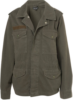 Topshop Popper Army Jacket