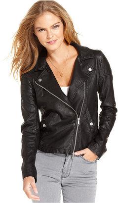 Calvin Klein Jeans Faux-Leather Moto Jacket