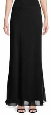 Alex Evenings Chiffon Long A-Line Skirt
