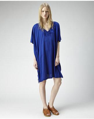 Zucca embroidered cotton dress