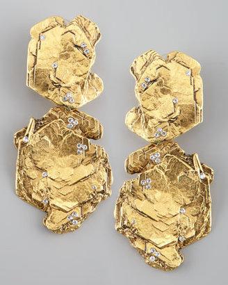 Jose & Maria Barrera Gold Nugget Clip Earrings