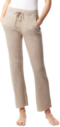 LISA TODD Easy Tie-Waist Rib-Knit Pants with Pockets
