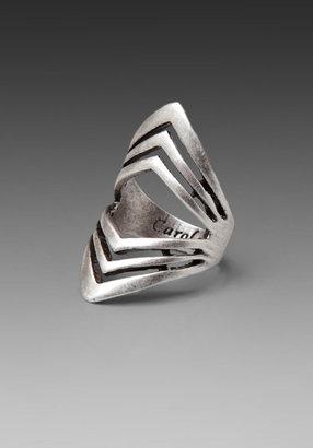 Carol Marie Double Chevron Ring