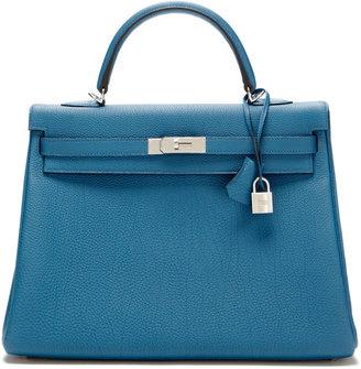 Hermes Bleu de Galice Togo Kelly 35cm