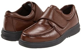Hush Puppies Gil (Black Leather) Men's Hook and Loop Shoes