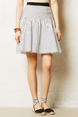 Anthropologie Maeve Edit Stripe Skirt