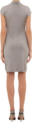 Barneys New York Gathered Twisted-Front Dress