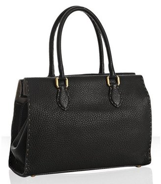 Fendi black 'Roman' leather 'Selleria' medium tote