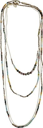 Nakamol Chain Beaded Layer Necklace