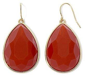 JCPenney Gold-Tone Burnt Orange Teardrop Earrings