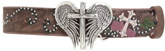 Nocona Cross With Wings (Brown) - Apparel