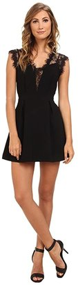 BCBGeneration Sleeveless V-Neck Shirt Cocktail Dress GEF68B66 (Black) Women's Dress
