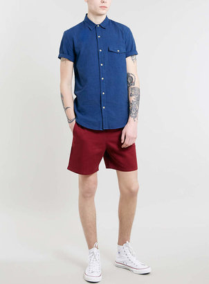 Topman Burgundy Shorts
