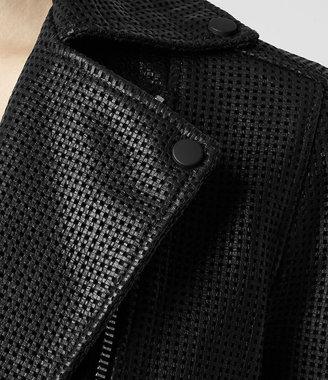 AllSaints Rowse Leather Biker Jacket