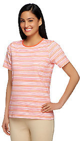Liz Claiborne New York Crew Neck Striped Print Knit Top $9.35 thestylecure.com