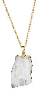 Yochi Design Yochi Raw Quartz Stone Necklace