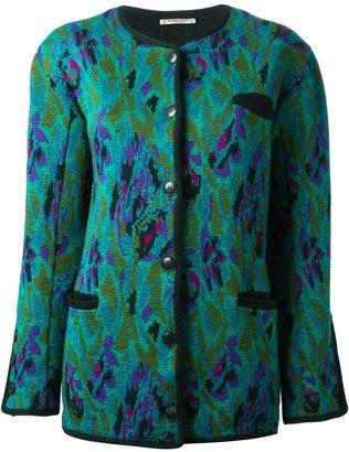 Saint Laurent Pre-Owned jacquard long cardigan