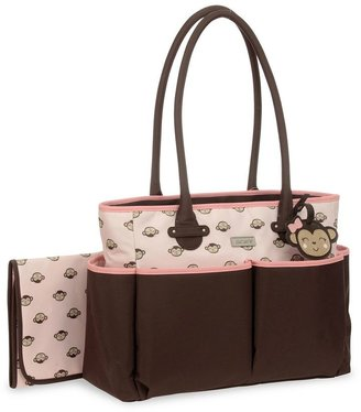 Carter's monkey diaper tote - pink