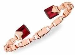 Michael Kors Sterling Silver Quartz Mercer Cuff Bracelet