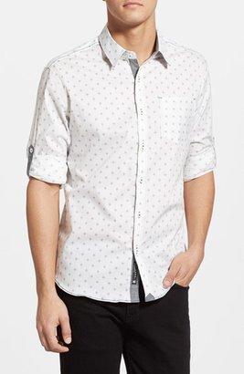 Men's 7 Diamonds 'Reflector' Trim Fit Woven Shirt $99 thestylecure.com