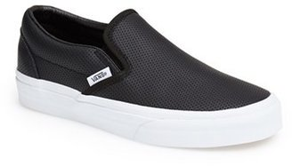 Women's Vans 'Classic' Perforated Slip-On Sneaker $59.95 thestylecure.com