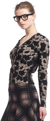 Tracy Reese Contrast Facing Cardigan