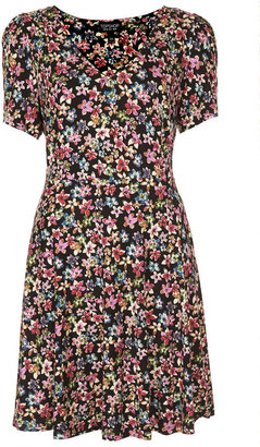 Topshop Floral Flippy Dress