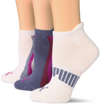 Puma Women's 3 Pair Pack Terry Low Cut Sock
