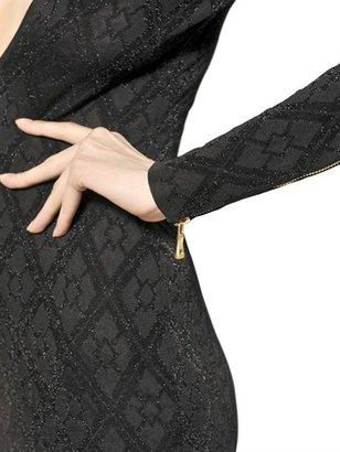 Balmain Lurex & Viscose Jacquard Knit Dress