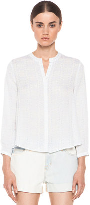 Band Of Outsiders Bird Nouveau Print Blouse in Light Blue