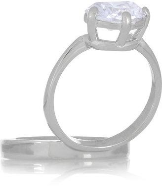 Maison Martin Margiela Silver-tone crystal ring