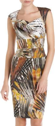 Black Halo Safari-Print Dress