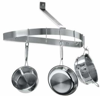 Cuisinart Brushed Stainless Steel Half Circle Wall Pot Rack