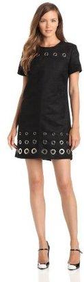 Anna Sui Women's Suede Grommet Dress