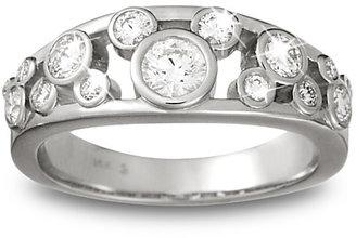 Disney Diamond Mickey Mouse Icon Ring for Women - 14K White Gold