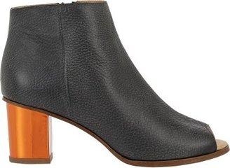 Maison Martin Margiela Mirrored-Heel Peep-Toe Boots