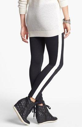 Lily White Tuxedo Stripe Leggings (Juniors) (Online Only)