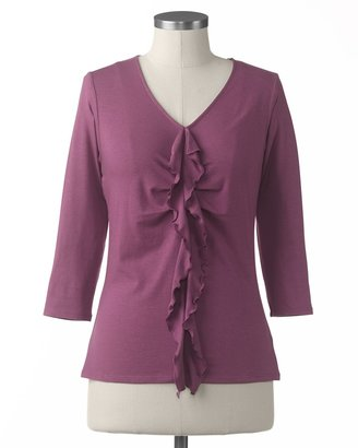 Coldwater Creek Center ruffle top