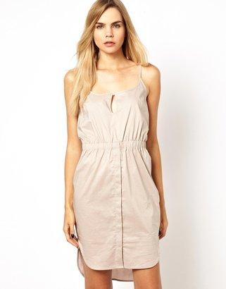 Chalayan Grey Line Key-Hole Dress