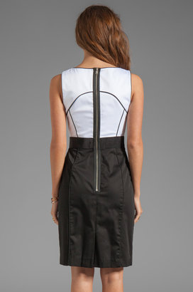 Milly Italian Stretch Cotton Rubi Sheath Dress
