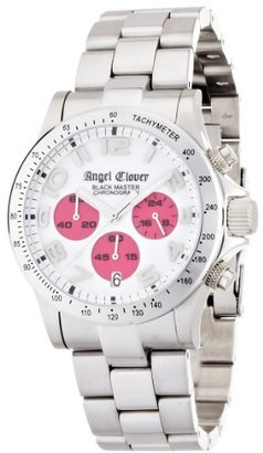Angel Clover (エンジェル クローバー) - [エンジェルクローバー]Angel Clover 腕時計 ブラックマスター ホワイト文字盤 10気圧防水 クロノグラフ BM41SWP メンズ