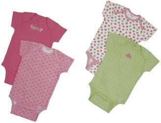Gerber 4-Pk Variety Onesies Girl - Multicolor-18 Months