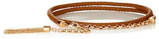 The Limited Braided Tassel Skinny Belt
