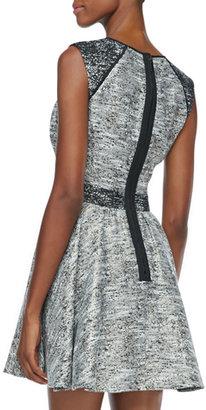 Rachel Zoe Marley Flared Tweed Dress
