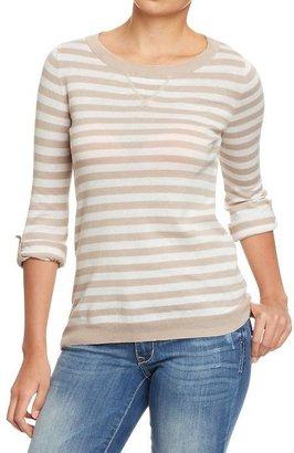 Old Navy Women's Tab-Sleeve Crew-Neck Sweaters