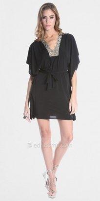 Julian Chang Black Kimono Mini Dresses