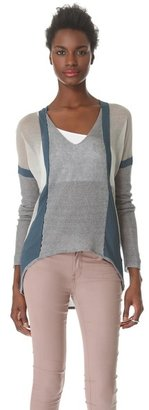 Helmut Lang Compact Borders Pullover