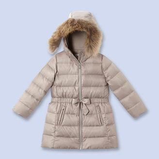 Jacadi Fur trimmed down coat