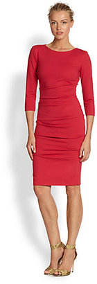 Nicole Miller Ponte Tuck Dress